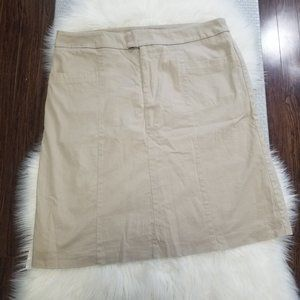 2/15🔥Traditions Khaki Tan Straight Skirt Lined 16